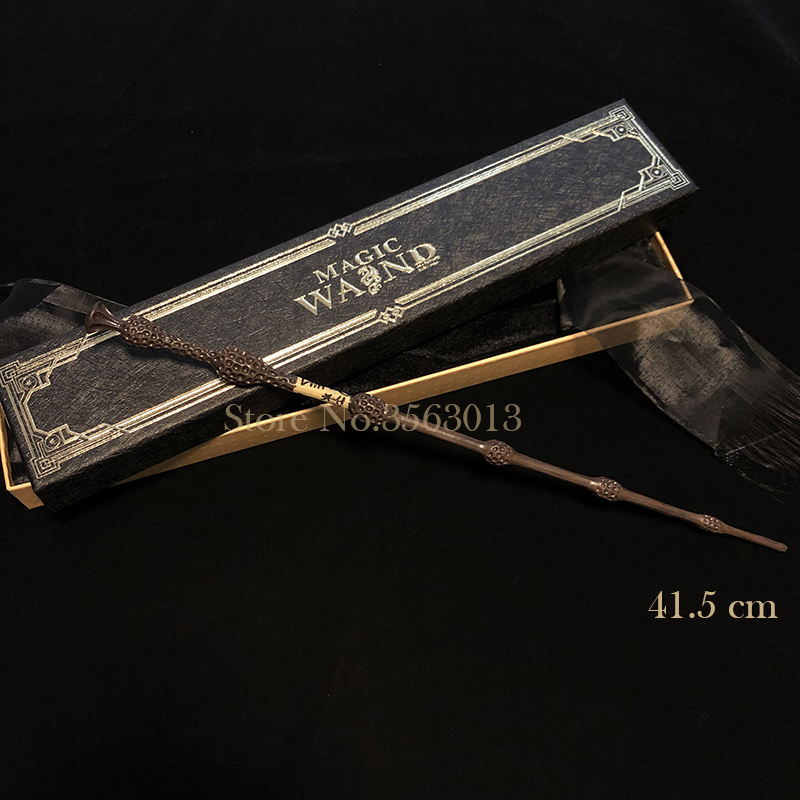 41.5cm Dumbledore Magic Wand Metal Core Dumbledore Elder Wand Elegant Ribbon Gift Box Packing Potters Series Magic Wand