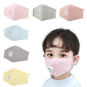 Children Face Mask With Breathing Design Cotton 3-layer Toddler Outdoor Anti-dust Mask Kids Protective Mask With 2pcs Filter