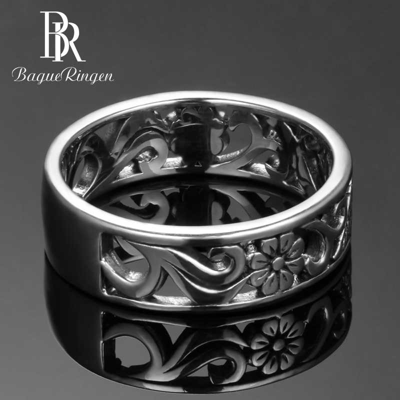 Bague Ringen Top Brand 925 Silver Jewelry Rings For Women Anniversary Circle Couple Ring Size 6-10 Wholesale Fine Jewlery Gifts