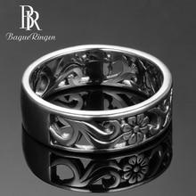Bague Ringen üst marka 925 gümüş takı yüzük kadınlar için yıldönümü daire çift yüzük boyutu 6-10 toptan güzel takı hediyeler
