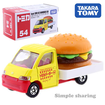 Takara Tomy Tomica No.54 Toyota Town Ace Hamburger Delivery Truck Car Hot Pop Kids Toys Motor Vehicle Diecast Metal Model image