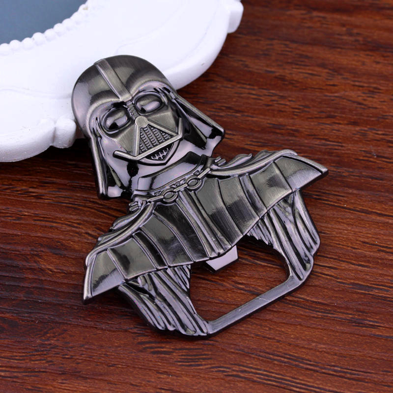 Star Wars Black Warrior Darth Vader Alloy Beer Bottle Opener Keychain Jewelry Toy Openers Kitchen Tools Alloy Key For Souvenirs