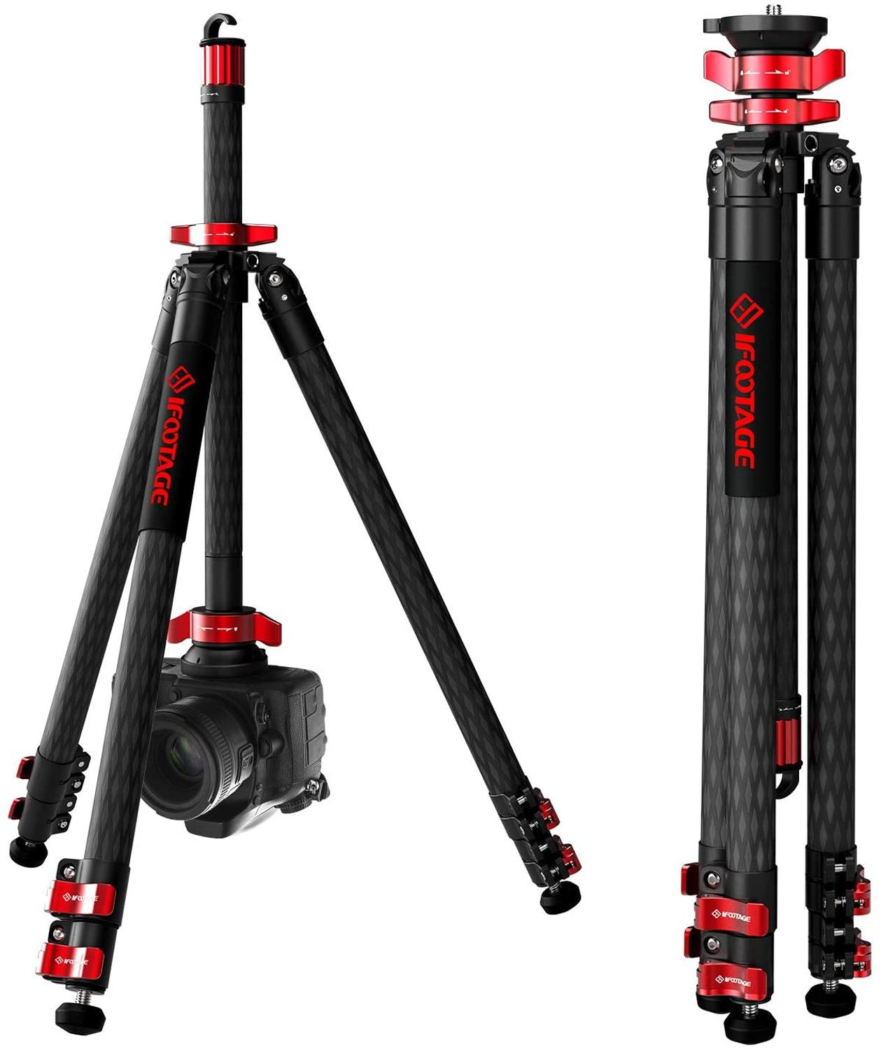 IFOOTAGE Gazelle series TA5&TC5&TA6&TC6 travel Professional Tripod carbon fiber camera tripods 3 sections for SONY CANON DSLR image