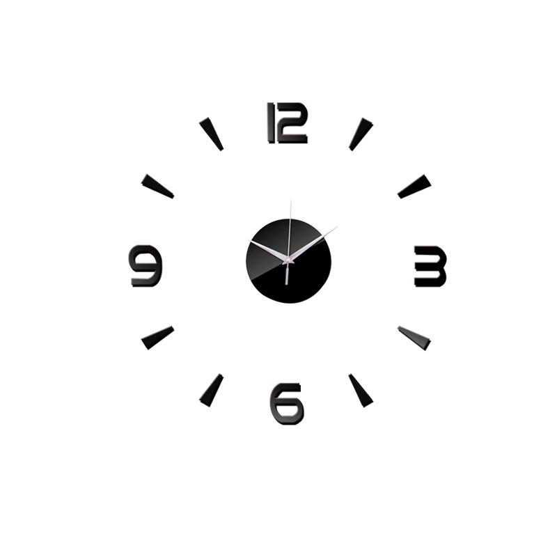 3D Wall Clock Acrylic Mirror Wall Stickers Modern DIY Wall Clocks Home Decor Living Room Quartz Needle reloj de pared 2020 NEW 12