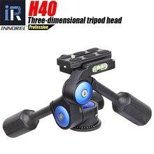 Innorel h40 카메라 삼각대 헤드 3 차원 파노라마 볼 헤드 핸들 조정 최대로드 10kg