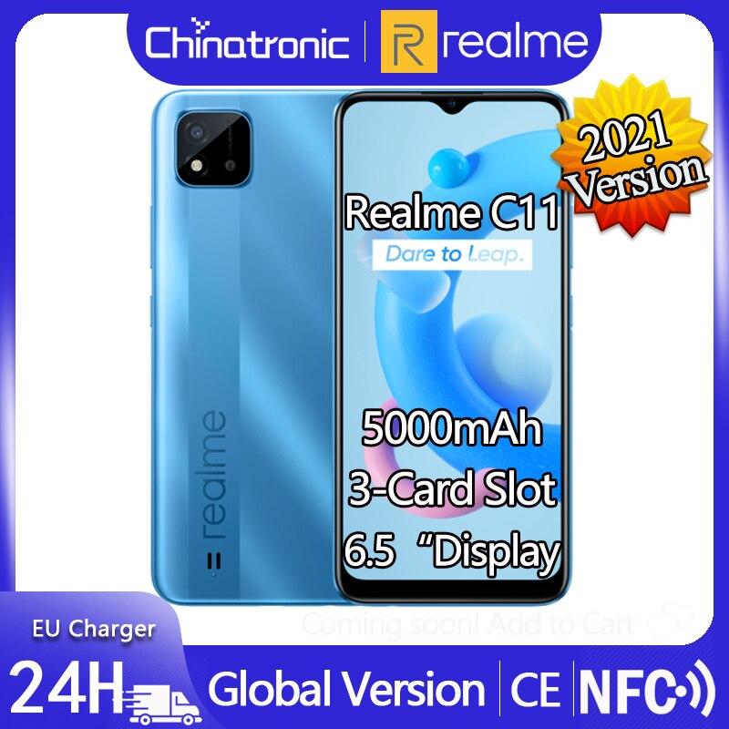 Новый realme C11 2021 Версия ОС: Android 10 Мобильный телефон 6,5