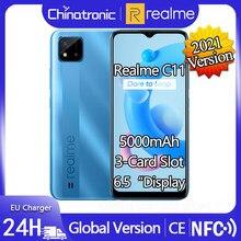 Novo realme c11 2021 versão android 10 telefone móvel 6.5