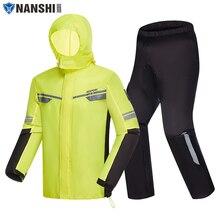 רעיוני אופנוע מעיל גשם פיצול גשם חליפת קאפה דה Chuva Moto עמיד למים בלתי חדיר Combinaison Pluie Moto NANSHI
