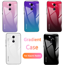 Gradient Glass Phone Case for Xiaomi Red