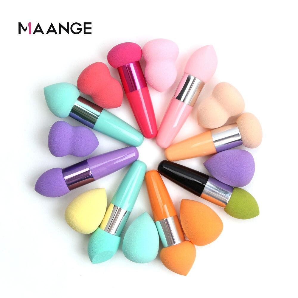 MAANGE 2 Pcs Soft Sponge Makeup Brushes BB Cream Powder Foundation Concealer Sponge Puffs For Women Make Up Puff Cosmetic Tools
