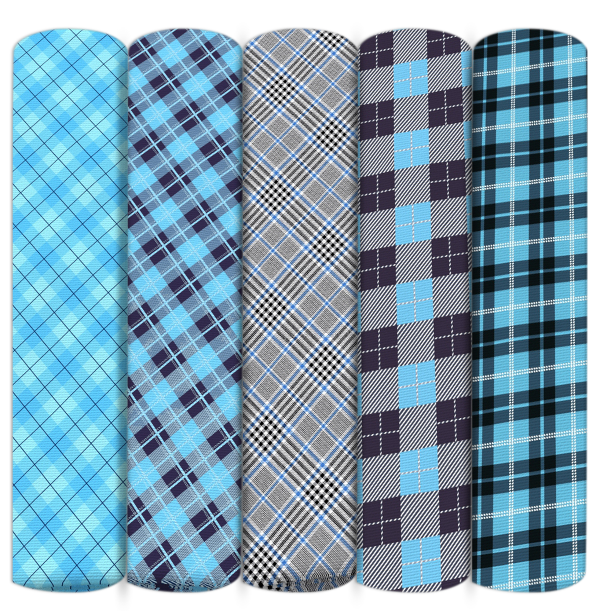 Gentle Blue Plaid Grid Geometric Patterns Polyester Cotton Fabric Patchwork Sew Quilting Needlework Material Diy Cloth,1yc14210 To Win A High Admiration And Is Widely Trusted At Home And Abroad.