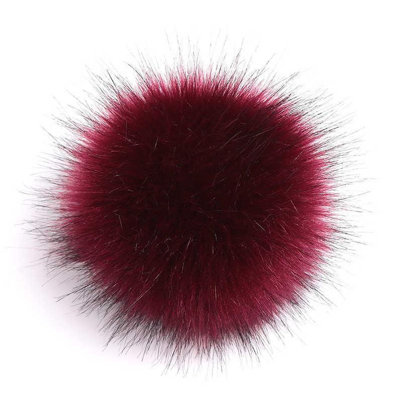 ใหญ่ขนาด10/15ซม.DIY Faux Fur Pompom Fur Pom Pomsธรรมชาติขนสัตว์Pomponสำหรับหมวกผู้หญิงกระเป๋ารองเท้าอุปกรณ์เสริมหัตถกรรม