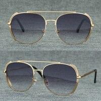 Pilot Sunglasses Women Men Vintage Oversized Round Sun Glasses Retro Pink Yellow Sunglass Shades for Women UV400 Oculos De Sol