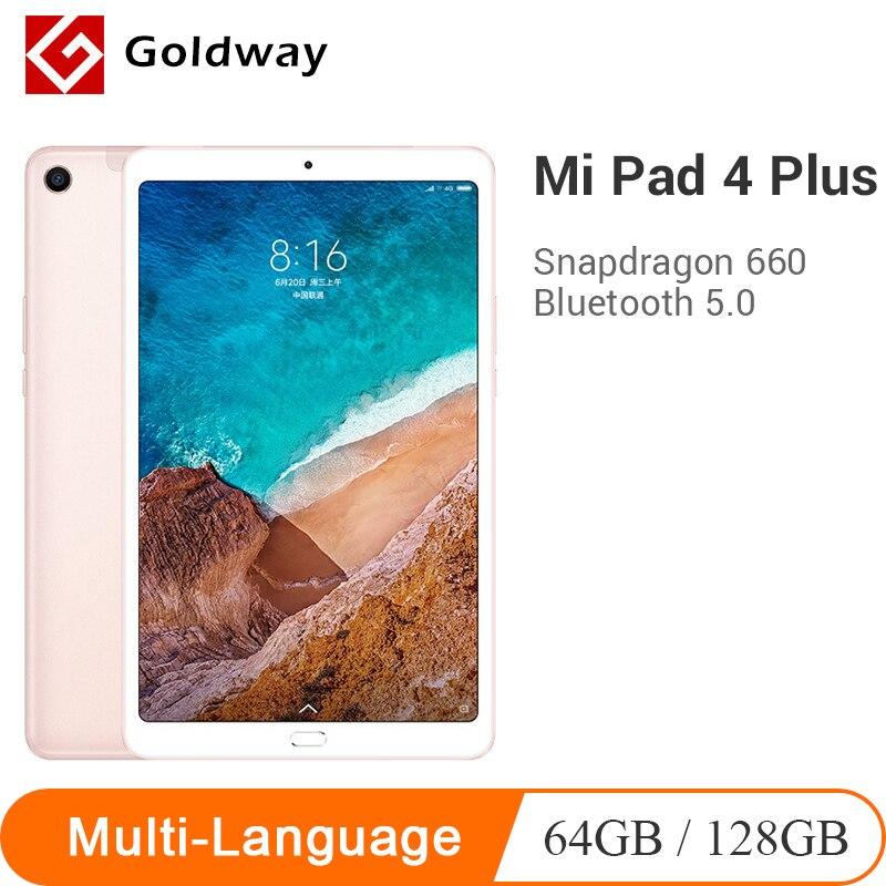 New Original Xiao mi mi Pad 4 Plus 64 GB/Comprimidos 128GB Snapdragon 660 AIE 4 CPU 10.1 ''Tela 16:10 Tablet 13MP 8620mAh mi Pad 4