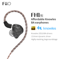 FiiO FH1s HiFi Stereo 1BA(Knowles)+1Dynamic Hybrid Earphone IEM with 0.78 2pins Detachable Cables with Deep bass hifi