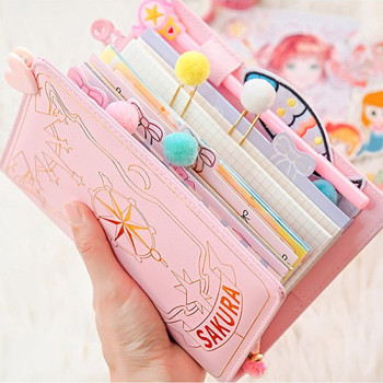 Anime Card Captor Sakura Handbook Looseleaf Diary Notebook School Season Cosplay Girly Heart Set Accessories - discount item  30% OFF Costumes & Accessories