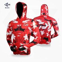 Стиль 4 цвета Daiwa одежда с длинным рукавом быстросохнущая рыболовная одежда анти-УФ Солнцезащитная одежда рыболовная рубашка