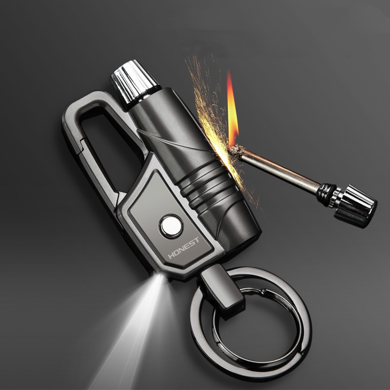 Открытый инструмент для выживания брелок металлический Перманентный нападающий Led Зажигалка Водонепроницаемая кремня Бесплатная пусковая установка для кемпинга|Аксессуары для сигарет|   | АлиЭкспресс