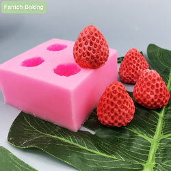 Fruit Strawberry Silicone Mould Fondant Chocolate Jelly Making Cake Tool Decoration Mold Oven Steam Available DIY Clay Resin Art