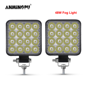 ANMINGPU 12V 24V 42W 48W LED Fog Light for Cars Off Road Truck Boat 4x4 ATV Spot Beam LED Work Light Auto Daytime Running Light
