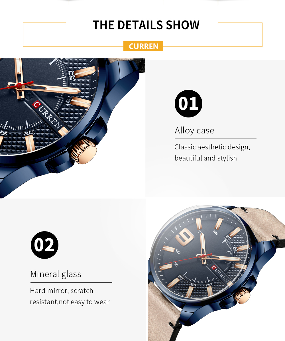H00cd14089f644694a7f87dc48fb3598aR Top Brand Luxury Business Watch Men CURREN Watches