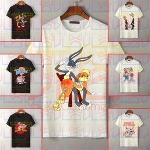 Мужская футболка с круглым вырезом, футболка унисекс из 100% хлопка с принтом багов, Лолы, кролика, spank, 2019