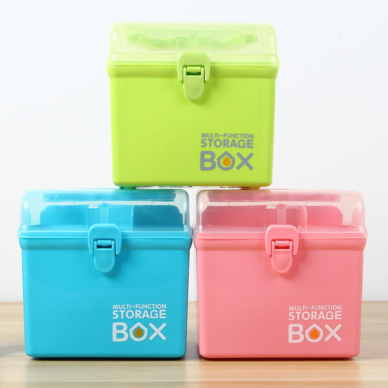 Multi-Layer Small  First Aid Kit Household Healthy Medicine Storage Box For Home