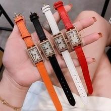 French quality, brand leather strap, 20*27mm rectangular watch luxury classic watch, quartz ladies watch BoyFriend watch,