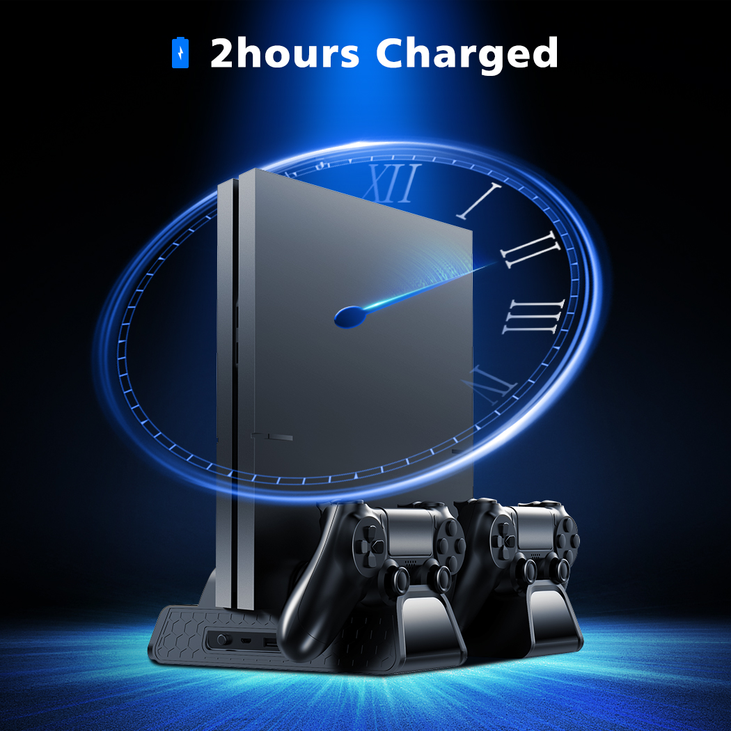 lowest price OIVO PS4 PS4 Slim PS4 Pro Vertical Cooling Stand Dual Controller Station Chargers Game storages LED Fan For SONY Playstation 4