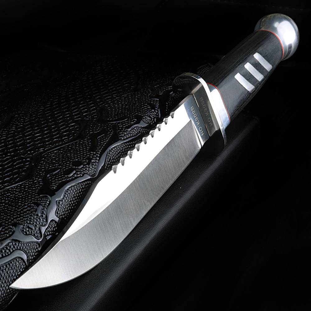XUAN FENG Outdoor Knife Wild Survival Knife Camping Tactical Hunting Knife Military High Hardness Steel Hunting Knife