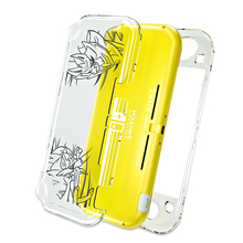 OIVO for Nintend Switch Lite Crystal Transparent Case Shell Hard PC Laser Engraving Case Tempered Film Protector for Switch Lite