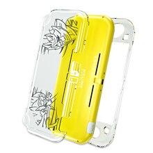 OIVO nintendo anahtarı Lite kristal şeffaf kılıf kabuk sert PC lazer gravür durumda temperli Film koruyucu anahtar Lite