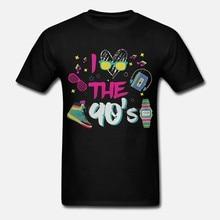 Camiseta masculina t shirt i love the 90 s retro oldschool 90 s