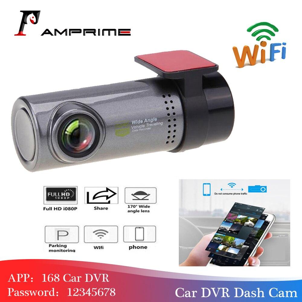 AMPrime Mini WiFi voiture DVR caméra tableau de bord 360 degrés HD 720P enregistreur vidéo Auto avant tableau de bord Cam enregistreur numérique caméscope