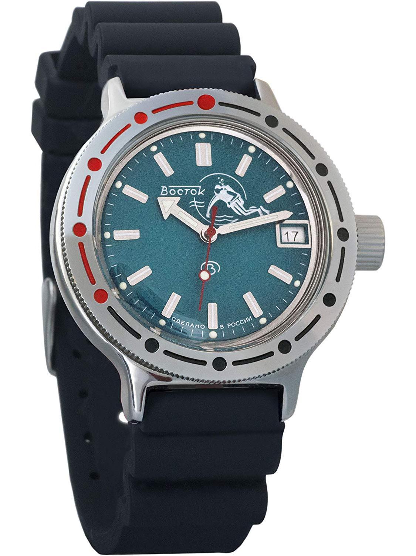 Vostok Amphibian 420059 / 2416 Military Russian Diver Watch Scuba Dude Blue