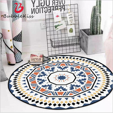 Carpets Nordic-Decoration Bedroom Rug Circle-Pattern Living-Room Blue Home Yes Round