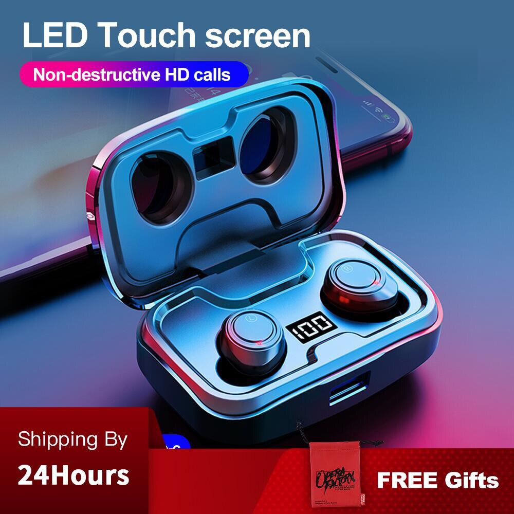 Беспроводные наушники TWS X10, bluetooth, IPX7, водонепроницаемые, с регулятором громкости, BT V5.0, шумоподавление, 3D стерео, 3500 мАч, емкость батареи
