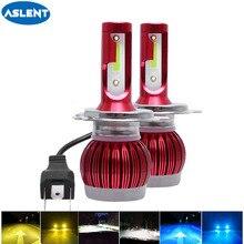 ASLENT 미니 자동차 헤드 라이트 H4 H7 LED 3000K 6000K 8000K H1 H8 H9 H11 HB3 HB4 9005 9006 9004 9007 LED 전구 자동 안개등 12V