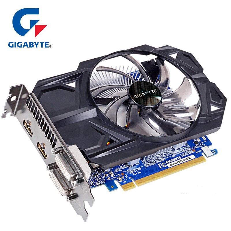 Placa gráfica gtx 750 ti de gigabyte com 128 bits nvidia geforce 2 gb gddr5 para o pc hdmi dvi usou cartões vga gtx 750 ti gpu placa de vídeo