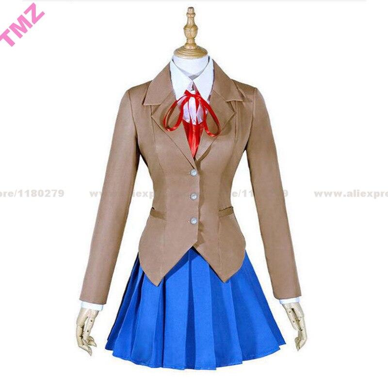 Doki Doki littérature Club Monika Cosplay Sayori Yuri Natsuki Cosplay Costume école uniforme fille femmes Costume jeu