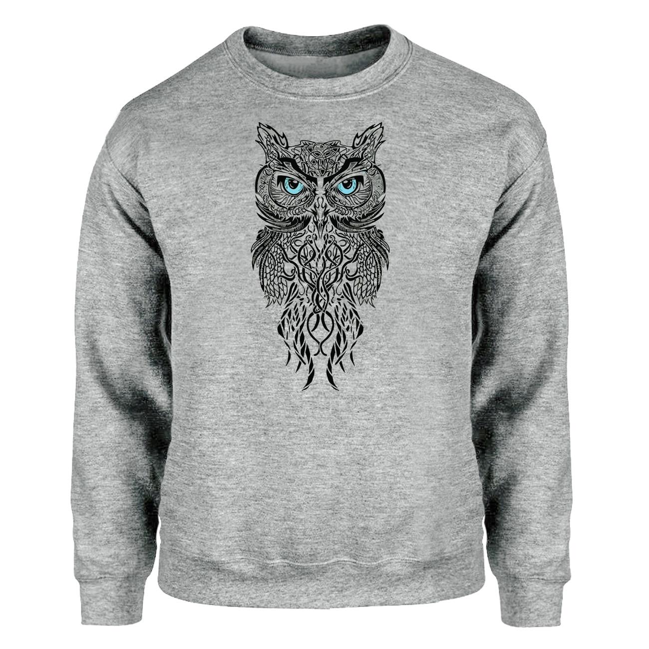 Animal Owl Hoodies Men Sweatshirts Ancient Crewneck Sweatshirt Hoodie Winter Autumn Fleece Warm Vintage Symbol Sportswear Mens