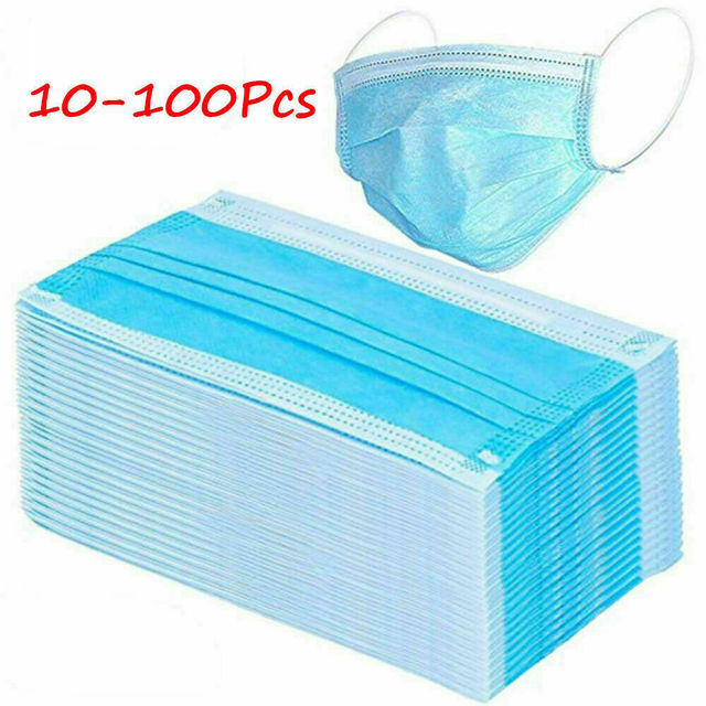 100Pcs 3 Layer Mask Earloop maska antywirusowa mask for flu 1