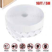 16FT 5M Door Seal Strip Weather Stripping Adhesive Silicone Windows Bottom Stopper Sealing Strip 25MM/35MM