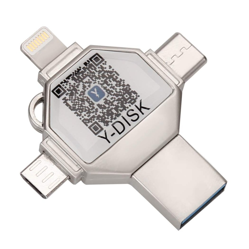 4 in 1 OTG <font><b>Usb</b></font> Flash Drive for iPhone Pendrive <font><b>256GB</b></font> <font><b>USB</b></font> <font><b>3</b></font>.0 Memory Stick External Storage for iOS/Android/Type C/Windows Device image