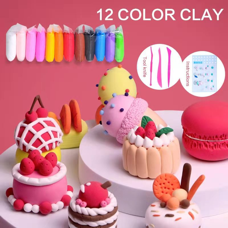 High Quality 36 Colors Air Dry Super Light Polymer Clay Kids Early Education Toys DIY Colored Slimes Snow Mud Plasticine Dough