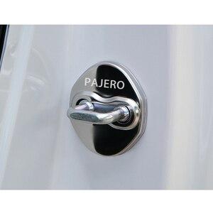Image 5 - Housse de Protection avec emblème pour serrure de porte, housse de Protection avec emblème pour Mitsubishi asx lancer outlander pajero EVO, accessoires pour salon de voiture