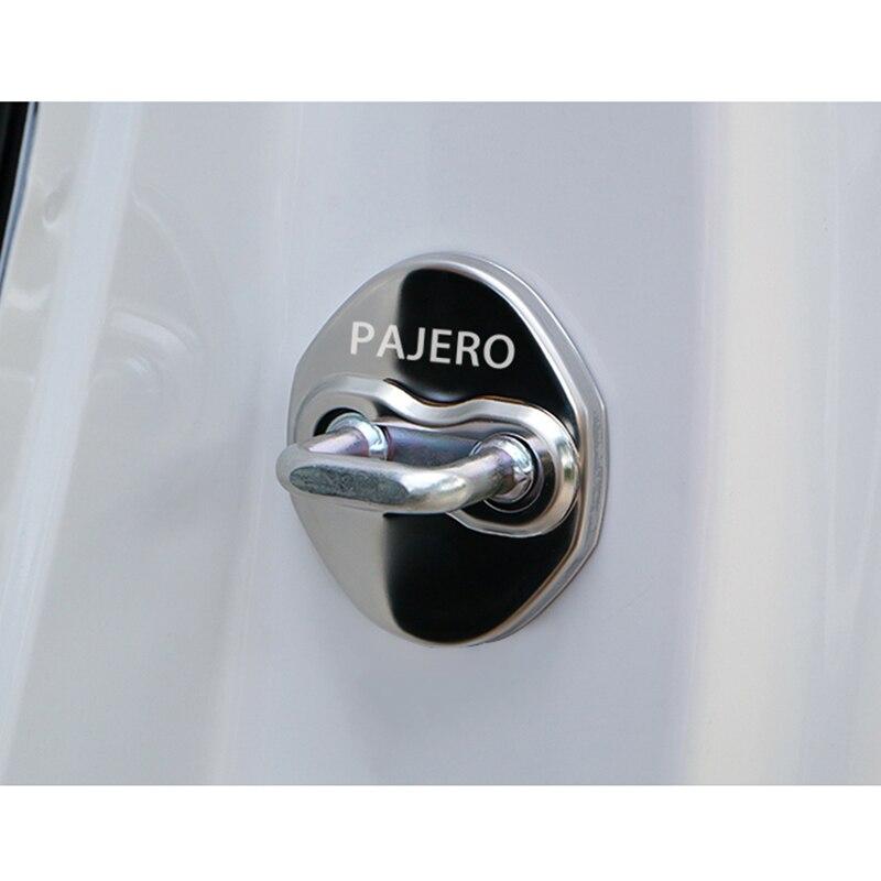 Image 5 - Отделка дверного замка Защитная крышка чехол с эмблемой для Mitsubishi asx lancer outlander pajero EVO аксессуары автостайлинг-in Наклейки на автомобиль from Автомобили и мотоциклы