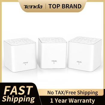 Tenda MW3 Home Wireless WiFi Bridge Extender System 2.4G/5.0G Dual-Band AC1200 Wireless Router and Repeater APP Remote Manage 1