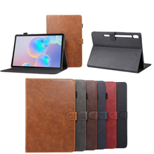 for Samsung Galaxy Tab S6 Case 10.5 Inch 2019 SM-860/T865 PU Leather Tablet Case Folio Stand Wallet Card Slots Flip Cover Tab S6 недорго, оригинальная цена