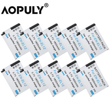 10pcs/lot EN-EL12 Camera Battery EN EL12 1400mAh Battery for Nikon Coolpix S620 S630 S610C S6100 S6200 S640 S710 z1 фото